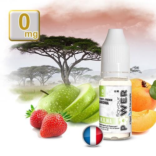 E-liquide Flavour Power 50/50 Kilwa - Pomme/Fraise/Pêche/Abricot 10 ml en 0 mg