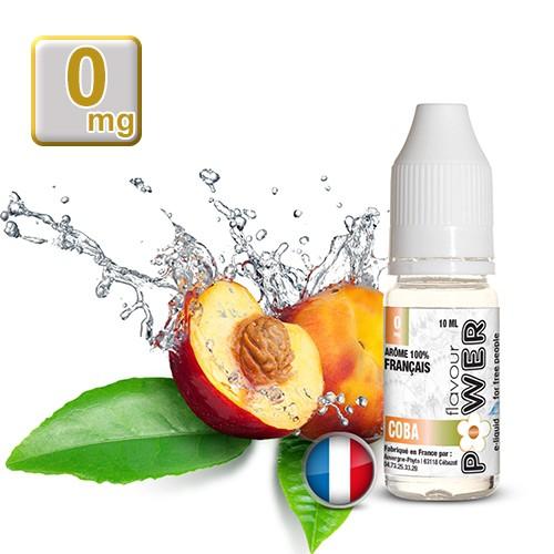 E-liquide Flavour Power 50/50 Coba - Pêche/Chlorophylle/Abricot 10 ml en 0 mg