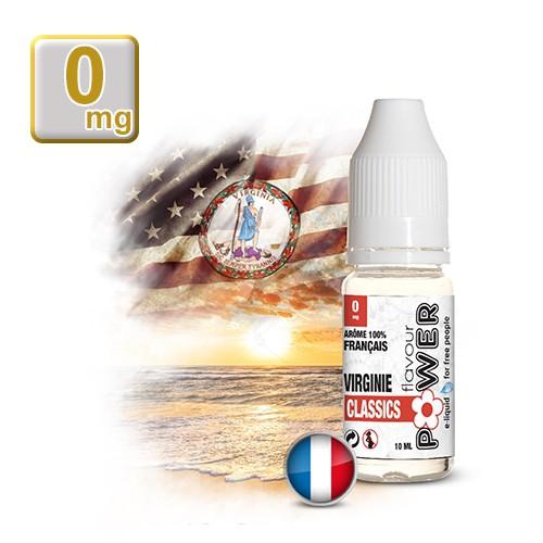 E-liquide Flavour Power 50/50 Virginie Classics 10 ml en 0 mg