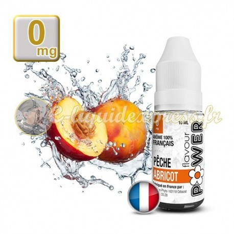 E-liquide Flavour Power Pêche Abricot 50/50 10 ml en 0 mg