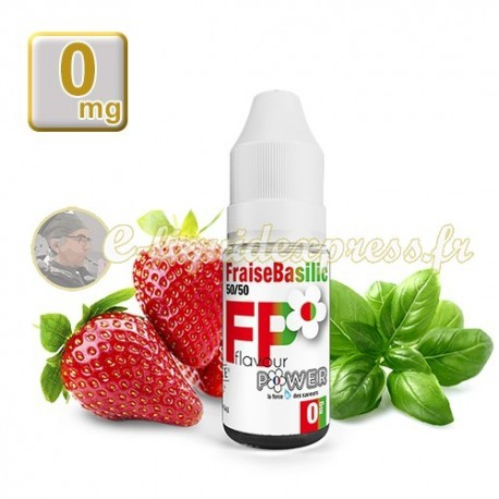 E-liquide Flavour Power Fraise Basilic 50/50 10 ml en 0 mg
