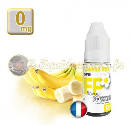 E-liquide Flavour Power 50/50 Banana Mix 10 ml en 0 mg