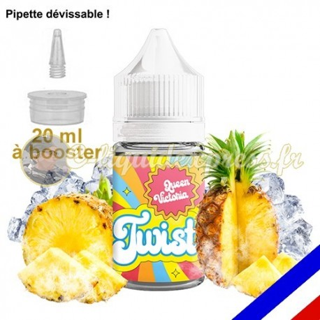 E-liquide Twist 50/50 à booster Queen Victoria - Ananas - 20 ml