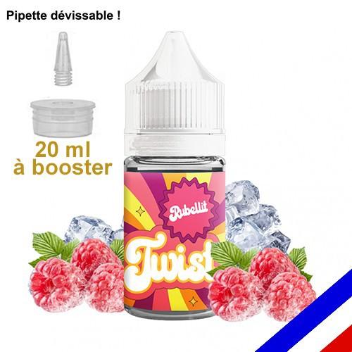 E-liquide Twist 50/50 à booster Rubellit - Framboise Crumble - 20 ml