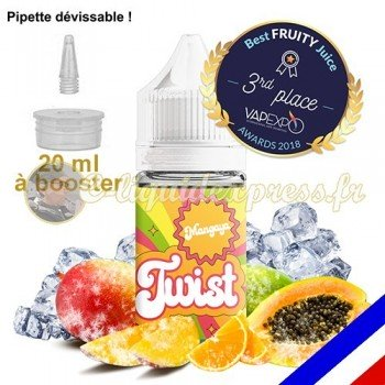 E-liquide Twist 50/50 à booster Mangaya - Mangue Papaye - 20 ml