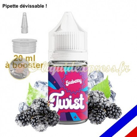 E-liquide Twist 50/50 à booster Ice Berry - Mûres sauvages - 20 ml