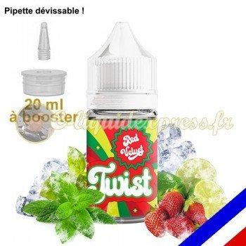 E-liquide Twist 50/50 à booster Red Velvet - fraise, menthe, basilic et citron vert - 20 ml