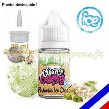E-liquide Cloud Co 50/50 à booster Pistachio ICE - crème glacée pistache - 20 ml