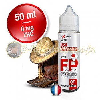 E-liquide Flavour Power 50/50 USA Classics à booster en 50ml