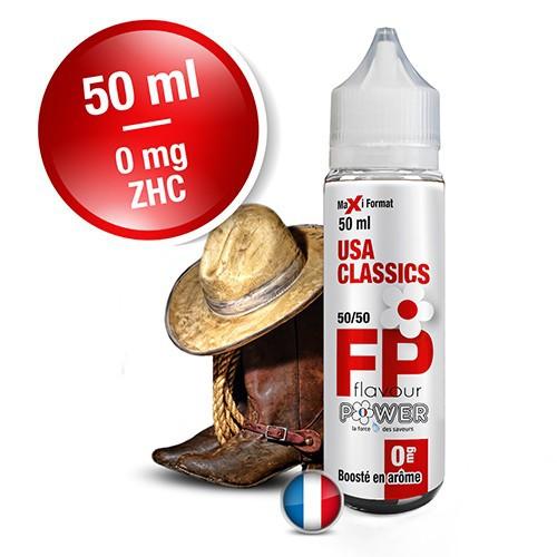 E-liquide Flavour Power 50/50 USA Classics à booster en 50ml