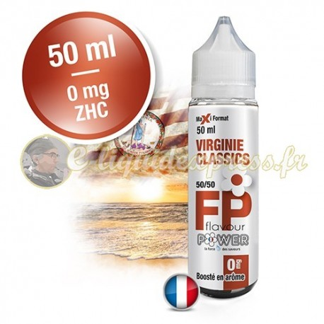 E-liquide Flavour Power 50/50 Virginie Classics à booster en 50ml