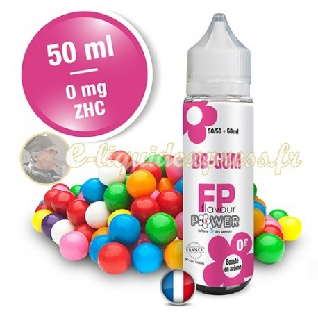 E-liquide Flavour Power 50/50 BB Gum à booster en 50ml dosage en nicotine