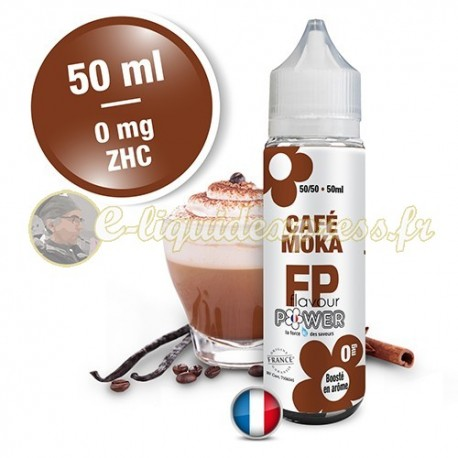 E-liquide Flavour Power 50/50 Café moka à booster en 50ml