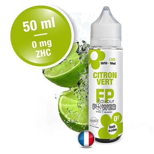 E-liquide Flavour Power 50/50 Citron Vert à booster en 50ml