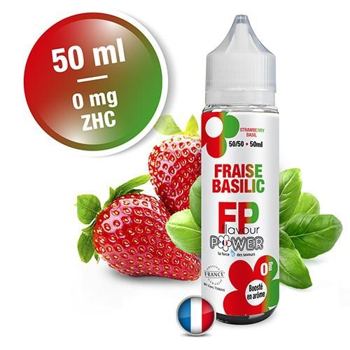 E-liquide Flavour Power 50/50 Fraise Basilic à booster en 50ml