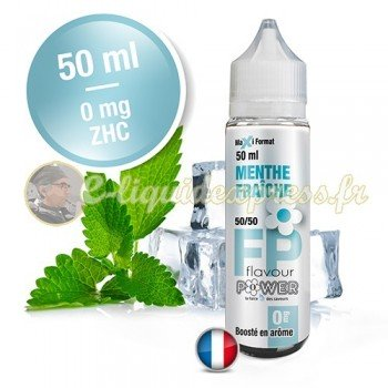 E-liquide Flavour Power 50/50 Menthe Fraîche à booster en 50ml