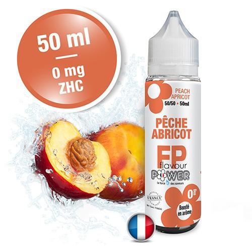 E-liquide Flavour Power 50/50 Pêche Abricot à booster en 50ml
