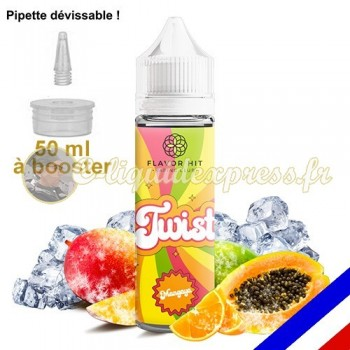 E-liquide Twist 50/50 à booster Mangaya - Mangue Papaye - 50 ml