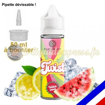 E-liquide Twist 50/50 à booster Waterlemon - Pastèque Citron - 50 ml