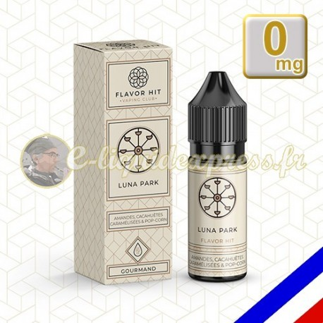 E-liquide Barbe à papa Pop corn Gaufre 50/50 Luna Park - 10 ml Flavor Hit - Vaping Club 0 mg