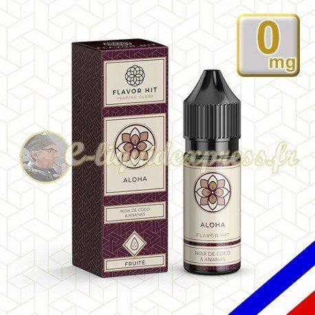 E-liquide Flavor Hit 50/50 Aloha - Noix de Coco/Ananas - 10 ml en 0 mg