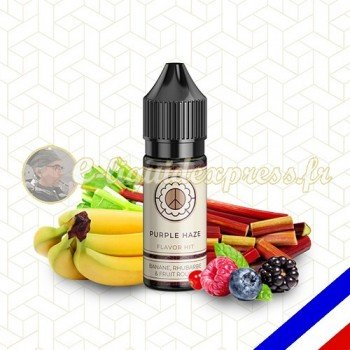 E-liquide Flavor Hit 50/50 Purple Haze - Banane/Rhubarbe/Fruits rouges - 10 ml