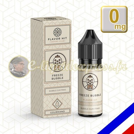 E-liquide Flavor Hit 50/50 Freeze Bubble - Pastille Fraicheur - 10 ml en 0 mg