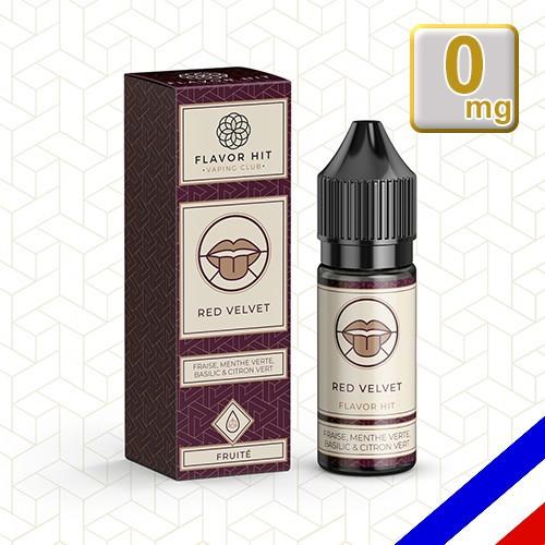 E-liquide Flavor Hit 50/50 Red Velvet - Fraise/Menthe/Basilic/Citron vert - 10 ml en 0 mg