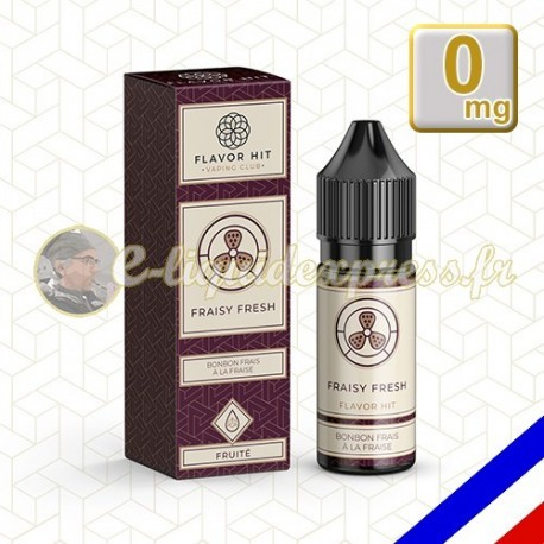 E-liquide Flavor Hit Gourmand 50/50 Fraisy Fresh - Fraise/Menthe - 10 ml en 0 mg