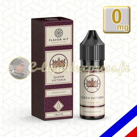 E-liquide Flavor Hit Fruité 50/50 Queen Victoria - Ananas - 10 ml en 0 mg