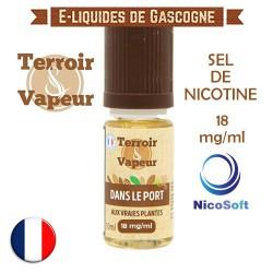 E-liquide Dans le Port ( d'Amsterdam ) sel de nicotine 18 mg/ml Nicosoft - Terroir et Vapeur - 10 ml