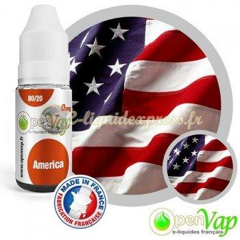 E-liquide Openvap saveur América 10 ml