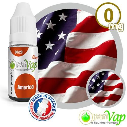 E-liquide Openvap saveur América 10 ml en 0 mg