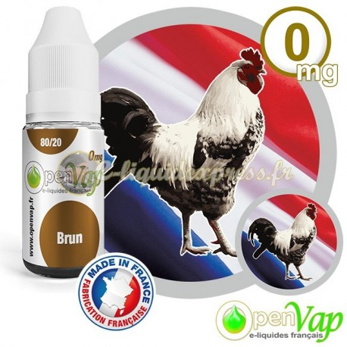 E-liquide Openvap saveur Brun 10 ml en 0 mg