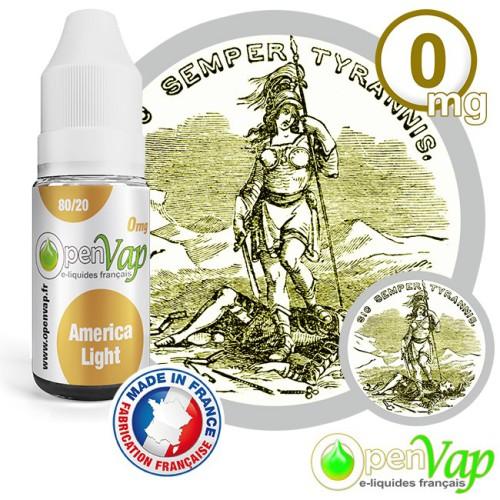 E-liquide Openvap saveur América light 10 ml en 0 mg