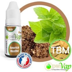 E-liquide Openvap saveur América Menthe TBM 10 ml