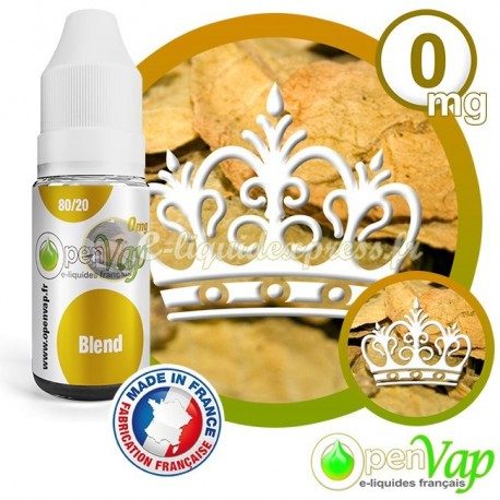 E-liquide Openvap saveur Blend 10 ml en 0 mg