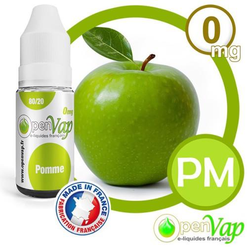 E-liquide Openvap saveur Pomme PM 10 ml en 0 mg