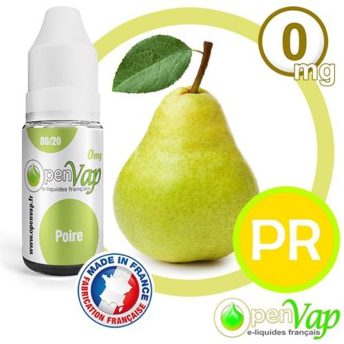 E-liquide Openvap saveur Poire PR 10 ml en 0 mg