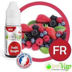E-liquide Openvap saveur Fruits rouges FR 10 ml