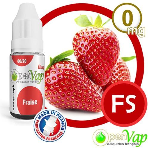 E-liquide Openvap saveur Fraise FS 10 ml en 0 mg