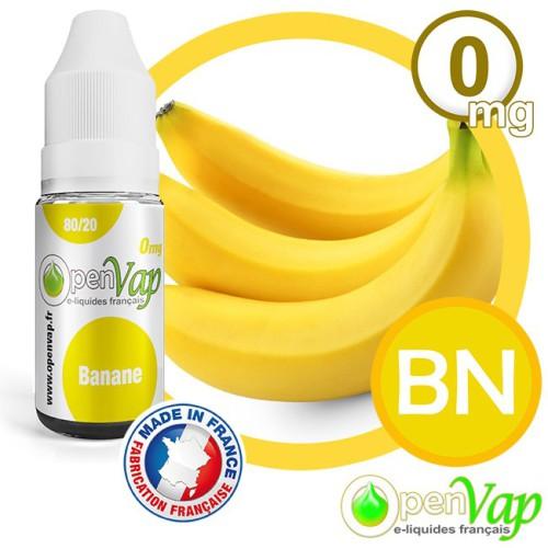 E-liquide Openvap saveur Banane BN 10 ml en 0 mg