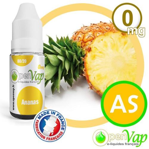 E-liquide Openvap saveur Ananas AS 10 ml en 0 mg