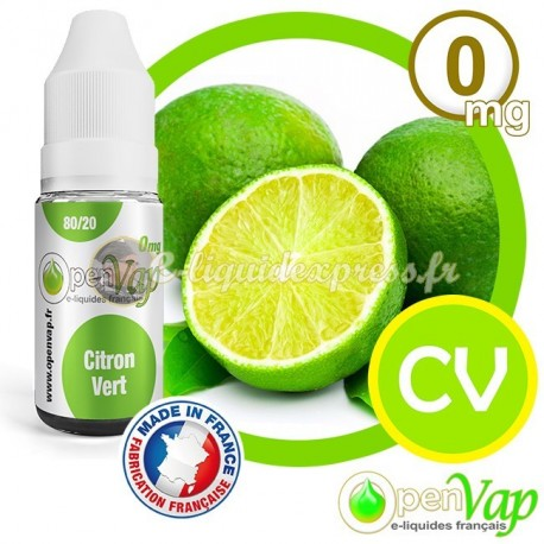 E-liquide Openvap saveur Citron Vert CV 10 ml en 0 mg