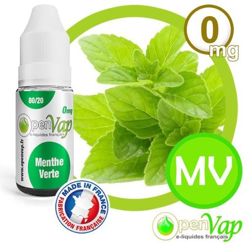 E-liquide Openvap saveur Menthe verte MV 10 ml en 0 mg