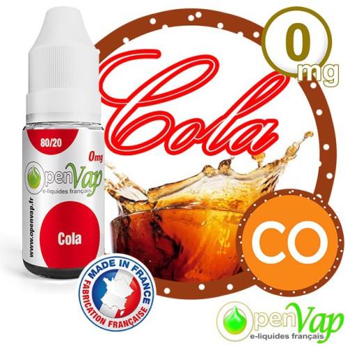E-liquide Openvap saveur Cola CO 10 ml en 0 mg