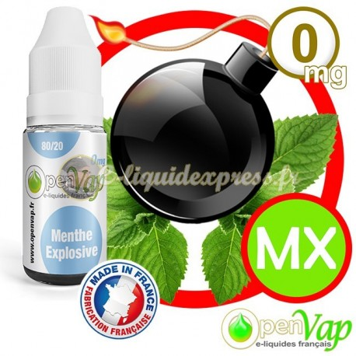 E-liquide Openvap saveur de Menthe Explosive MX 10 ml en 0 mg