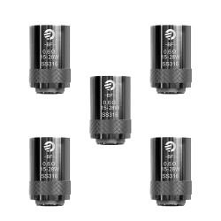 Résistances CUBIS BF SS316 (kit JoyeTech AIO) - 0.6 Ohm - Boite de 5 unités