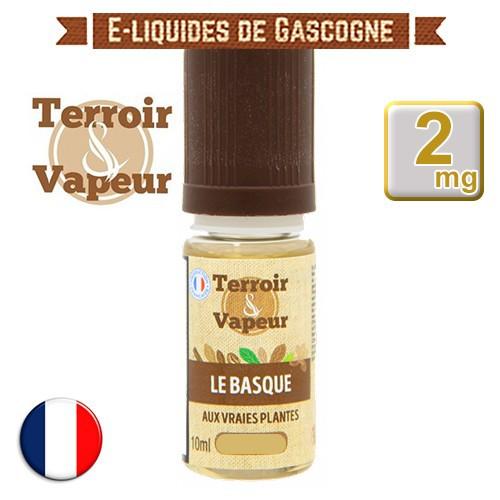 E-liquide Brun Le Basque - Terroir et Vapeur - 10 ml en 2 mg