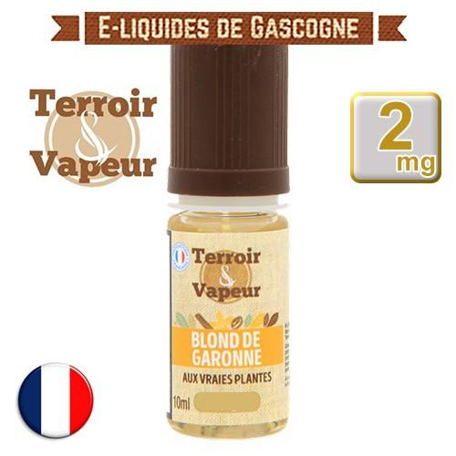 E-liquide Blond de Garonne Classique - Terroir et Vapeur - 10 ml en 2 mg